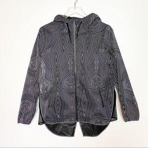 Ivy Park Patterned Rain Jacket Black XS